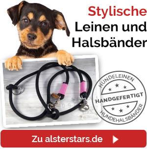 Hundeleinen und Hundehalsbänder von Alsterstars.de